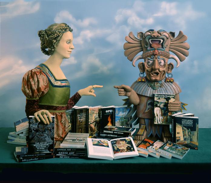 renaissance lady aztec man